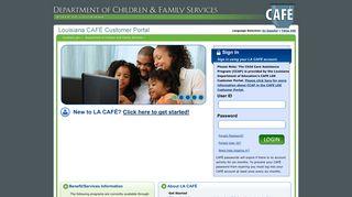 Dcfs La Gov Customer Portal