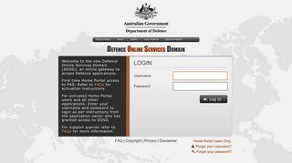 Defence Restricted Network Login