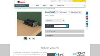 Desktop Power Center Work Surface Portal