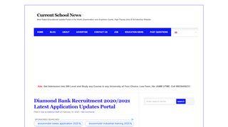 Diamond Bank Recruitment Portal