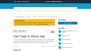 Directv App Login Issues