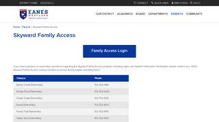 Eanes Isd Skyward Family Access Login
