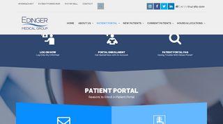 Edinger Medical Group Portal