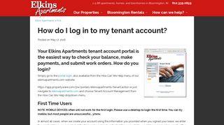 Elkins Apartments Portal