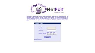 Emcs Netport Login