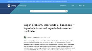 Facebook Login Failed Error Code 3