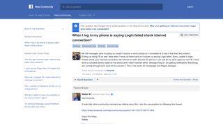 Facebook Mobile Login Failed