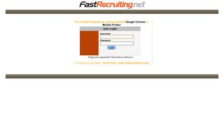 Fastrecruiting Net Applicant Login