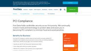 First Data Pci Compliance Portal