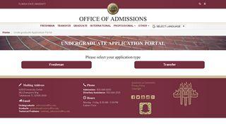 Fsu Admissions Portal