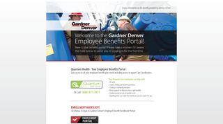 Gardner Denver Benefits Portal