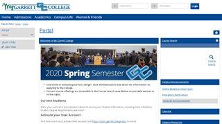 Garrett College Student Portal