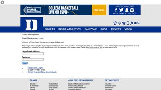 Go Duke Login