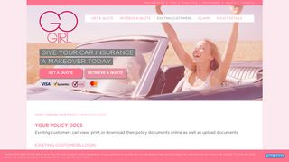 Go Girl Open Customer Portal