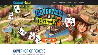 Governor Of Poker 3 Login