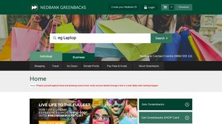 Greenbacks Login Page