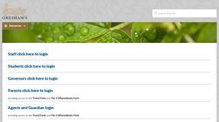 Greshams Staff Portal