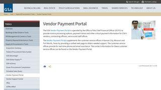 Gsa Vendor Payment Portal