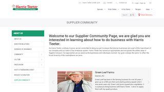 Harris Teeter Vendor Portal