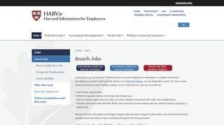 Harvard Career Portal