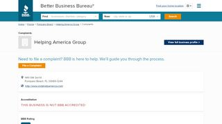 Helping America Group Client Portal