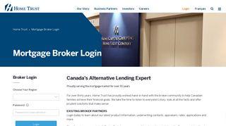 Home Trust Broker Login