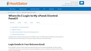 How To Login To Hostgator Control Panel