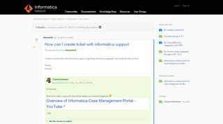 Informatica Case Management Portal
