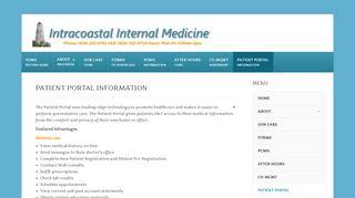Intracoastal Medicine Patient Portal