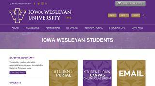 Iowa Wesleyan Student Portal
