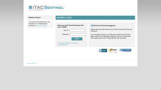 Itac Sentinel Login