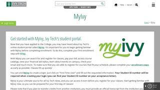 Ivy Tech Student Portal