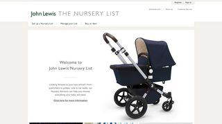 John Lewis Baby List Login