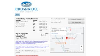 Jordan Ridge Family Medicine Patient Portal