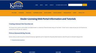 Kansas Dealer Portal