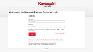 Kawasaki Dealer Portal