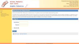 Killeen Pediatric Care Clinic Portal