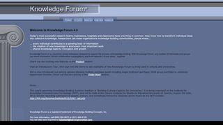 Knowledge Forum Login