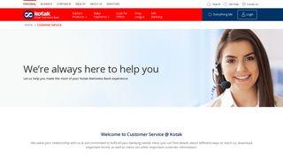 Kotak Mahindra Bank Login Customer Care