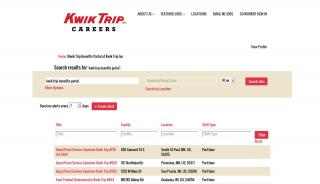 Kwik Trip Benefits Portal