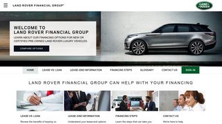 Land Rover Financial Group Login