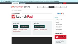 Launchpad Learning Portal Login