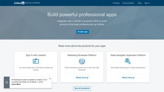 Linkedin Developer Portal