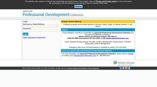 Lippincott Professional Development Login