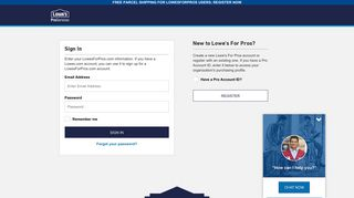Lowe's For Pros Login