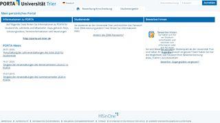 Lsf Portal Uni Trier