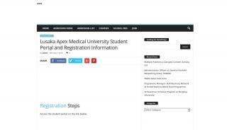 Lusaka Apex Medical University Student Portal