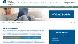 Madera Community Hospital Patient Portal