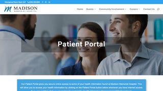 Madison Memorial Hospital Patient Portal