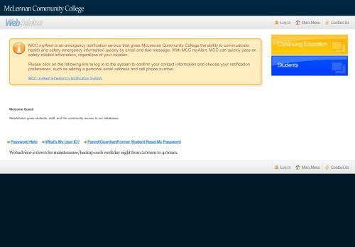 Mcc Webadvisor Login